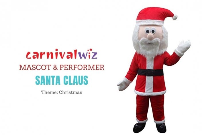Santa Claus Mascot Costume carnival Fancy Dress Cartoon Suit rental singapore