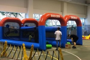 inflatable soccer dribble for rent singapore