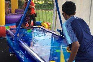 air hockey game for kids arcade machine rental singapore