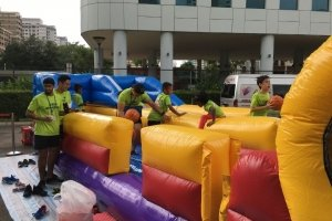 bungee run and hoop for kids singapore