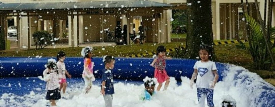 foam pool for rent at singapore