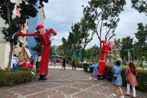 Santa Claus Decor rental singapore