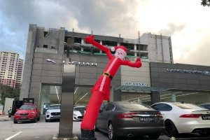 Santa Claus Airdancer Dancing Tube skydancer for rent or hire in Singapore