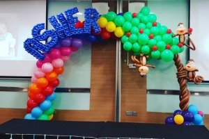 balloon arch decoration for birthday party singapore