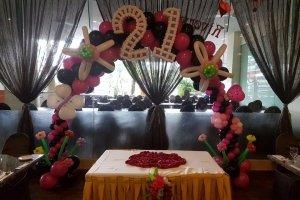birthday party decoration balloon arch singapore