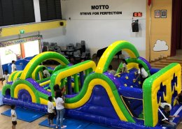 inflatable obstacle course bouncy castle young children and adults